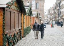 Strasbourg France after terrorist attacks at Christmas Market royalty free stock image