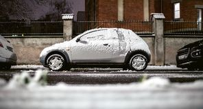 Ford Ka covered with snow Stock Images