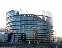 European Parliament building in Strasbourg royalty free stock photos
