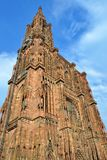 Strasbourg cathedrale, France. STRASBOURG, FRANCE - JULY 6: Strasbourg Cathedrale, on July 6. 2017 in Strasbourg, France Stock Photography