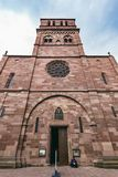 Facade of the church of St. Thomas in Strasbourg stock photography