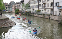 Strasbourg, France - 3 May,2016 :Beautiful old town of Strasbour Stock Image