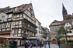 Strasbourg, France - 3 May,2016 :Beautiful old town of Strasbour Stock Images