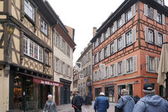 Strasbourg, France - 3 May,2016 :Beautiful old town of Strasbour Royalty Free Stock Photography