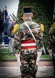 Ceremony Western allies World War Two victory Armistice. STRASBOURG, FRANCE - MAY 8, 2017: Ceremony to mark Western allies World War Two victory Armistice in royalty free stock image