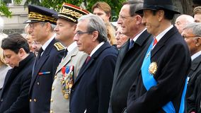 Roland Reis at Ceremony to mark Western allies World War Two vic. STRASBOURG, FRANCE - MAY 8, 2017: Roland Reis Mayor of Strasbourg at Ceremony to mark Western stock photos