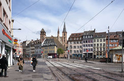 Strasbourg, France - 3 May,2016 : From the train station to beau Stock Photos