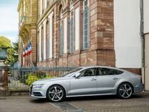Audi A7 sportback park parked in city Royalty Free Stock Photography