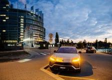New Lamborghini Urus Luxury SUV parked on street royalty free stock images