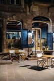 In Vino Veritas wine bar restaurant france night Royalty Free Stock Images