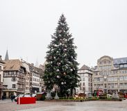 Strasbourg France after terrorist attacks at Christmas Market royalty free stock photo