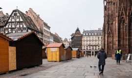 Strasbourg France after terrorist attacks at Christmas Market royalty free stock photos