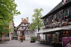 Strasbourg Frankrike - 3 Maj, 2016: Härlig gammal stad av Strasbour Royaltyfri Foto