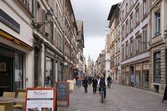 Strasbourg Frankrike - 3 Maj, 2016: Härlig gammal stad av Strasbour Arkivbild