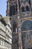 Strasbourg - The gothic cathedral Stock Images
