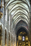 Strasbourg - The gothic cathedral, interior Royalty Free Stock Photography