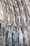 Strasbourg - The gothic cathedral, sculptures Stock Photos