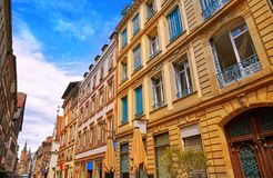 Strasbourg Grand rue street facades in France Royalty Free Stock Photo