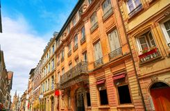 Strasbourg Grand rue street facades in France Royalty Free Stock Photos