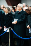 Strasbourg holds silent vigil for those killed in Paris attack. STRASBOURG, FRANCE - JANUARY 09, 2015: Council of Europe employees and Thorbjorn Jagland Stock Photography