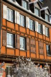 The Strasbourg houses during winter Stock Photography
