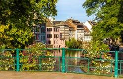 Strasbourg i Petite France område Arkivbilder