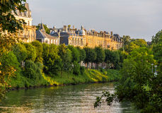 Strasbourg by the Ill river, summer scene Royalty Free Stock Photo