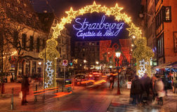 Strasbourg julhuvudstad Arkivbilder
