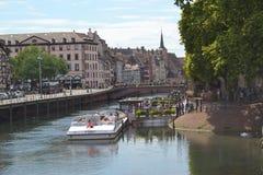 Strasbourg kanaler arkivfoton