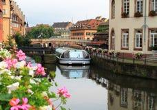 Strasbourg La liten och nätt Frankrike Royaltyfri Bild