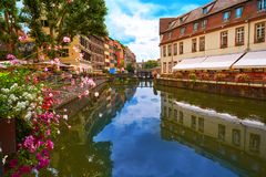 Strasbourg la Petite France in Alsace Royalty Free Stock Photography