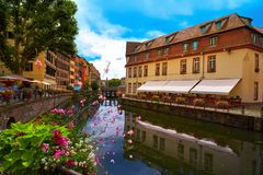 Strasbourg la Petite France in Alsace Royalty Free Stock Photos