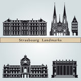 Strasbourg landmarks and monuments Royalty Free Stock Image