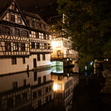 Strasbourg - Little France at night Stock Images