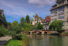 Strasbourg Lycee Pontonniers i Alsace Arkivfoton