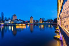 Strasbourg, medieval bridge Ponts Couverts. Alsace, France. Royalty Free Stock Photography