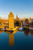 Strasbourg, medieval bridge Ponts Couverts. Alsace, France. Stock Photography