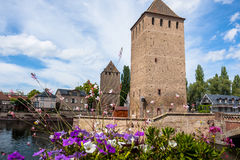 Strasbourg, medieval bridge Ponts Couverts Stock Images