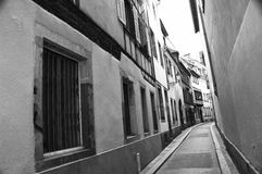 Strasbourg narrow street Royalty Free Stock Photography