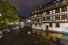 Strasbourg by night Royalty Free Stock Images