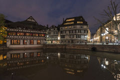 Strasbourg by night Stock Photo