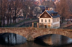 Strasbourg Old Bridge Royalty Free Stock Photography