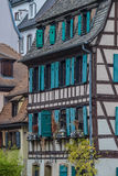 Strasbourg, part of nice house in Petite France area. Royalty Free Stock Image