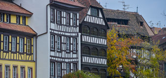 Strasbourg, part of nice house in Petite France area. Royalty Free Stock Photo