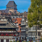 Strasbourg, part of nice house in Petite France area. Stock Photography