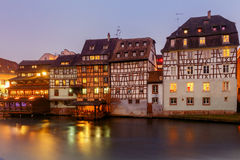 Strasbourg. Petite France district in the old city. Royalty Free Stock Photo