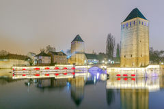 Strasbourg. Quay in the quarter Petite France. Royalty Free Stock Image