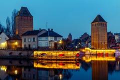 Strasbourg. Quay in the quarter Petite France. Stock Photos