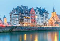 Strasbourg. Quay St. Nicholas. Royalty Free Stock Photo