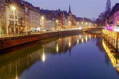Strasbourg. Quay St. Nicholas. Royalty Free Stock Photos